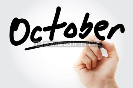Business: Hand writing October text with marker #01635
