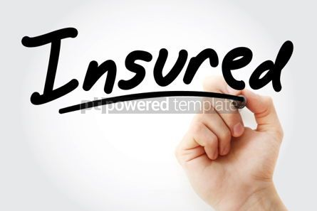 Business: Hand writing Insured with marker #01636