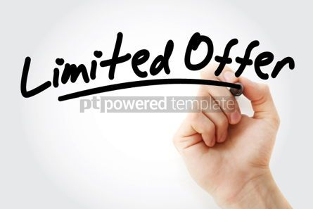 Business: Hand writing Limited Offer with marker #01640