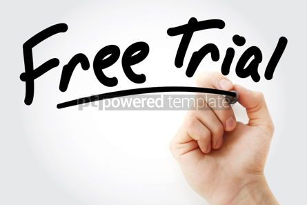 Business: Hand writing Free Trial with marker #01643