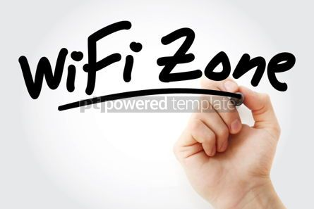 Business: Hand writing WiFi Zone with marker #01648