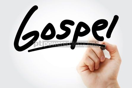 Business: Hand writing Gospel with marker #01649