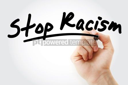Business: Hand writing Stop Racism with marker #01651