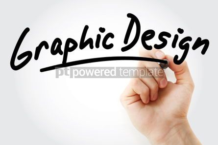 Business: Hand writing Graphic Design with marker #01654