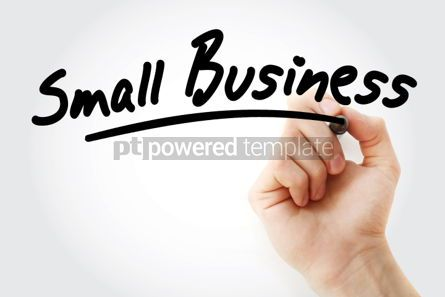 Business: Hand writing Small Business with marker #01656