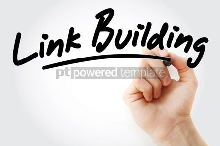 Business: Hand writing Link Building with marker #01658