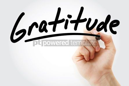 Business: Hand writing Gratitude with marker #01661
