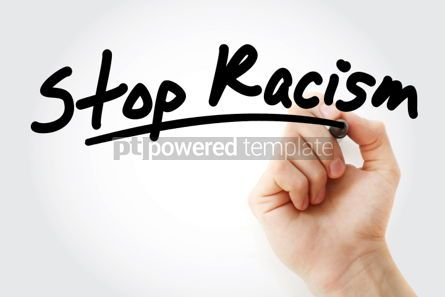Business: Hand writing Stop Racism with marker #01662