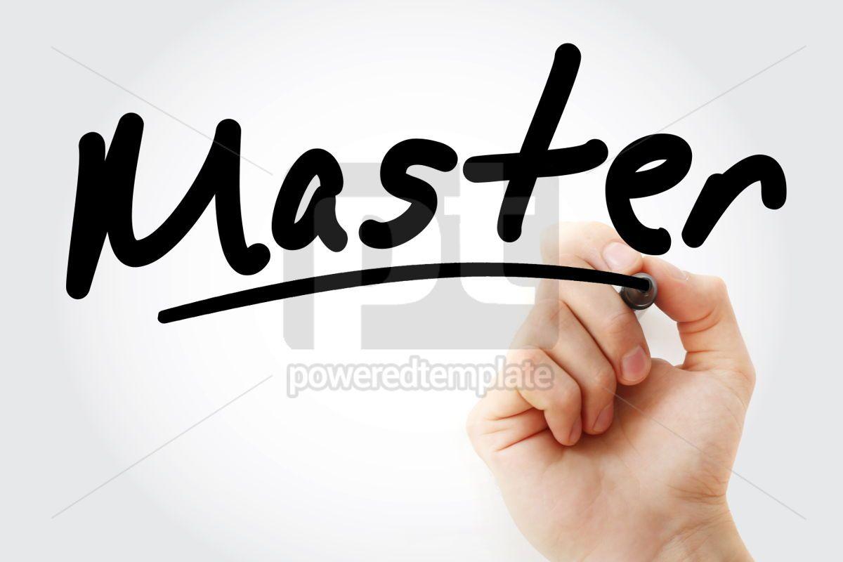 Hand writing Master with marker, 01665, Business — PoweredTemplate.com