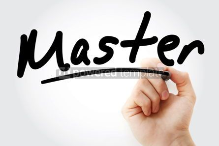Business: Hand writing Master with marker #01665