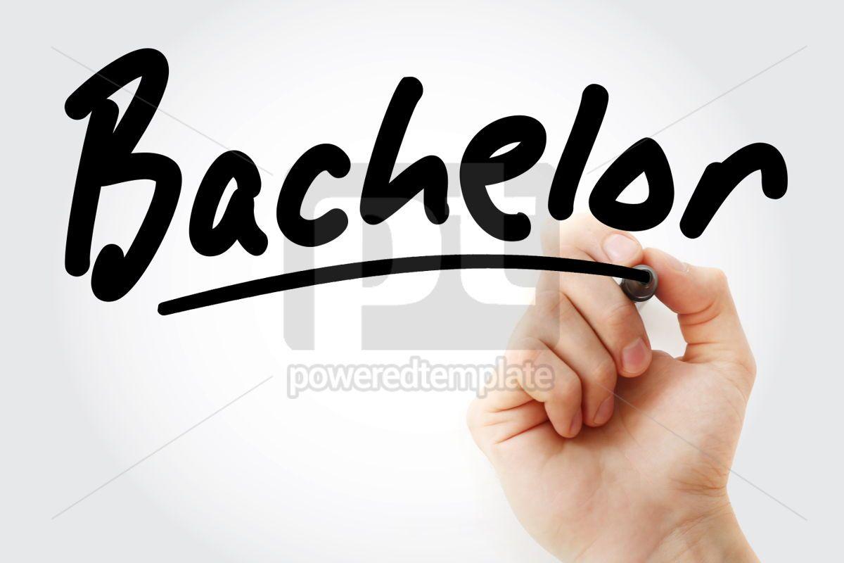 Hand writing Bachelor with marker, 01667, Business — PoweredTemplate.com