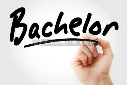 Business: Hand writing Bachelor with marker #01667