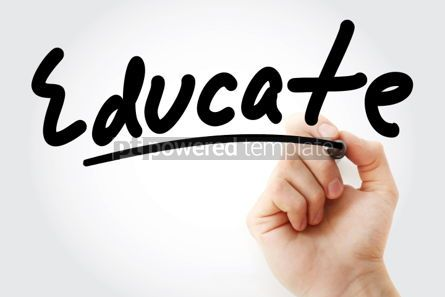 Business: Hand writing EDUCATE with marker #01668