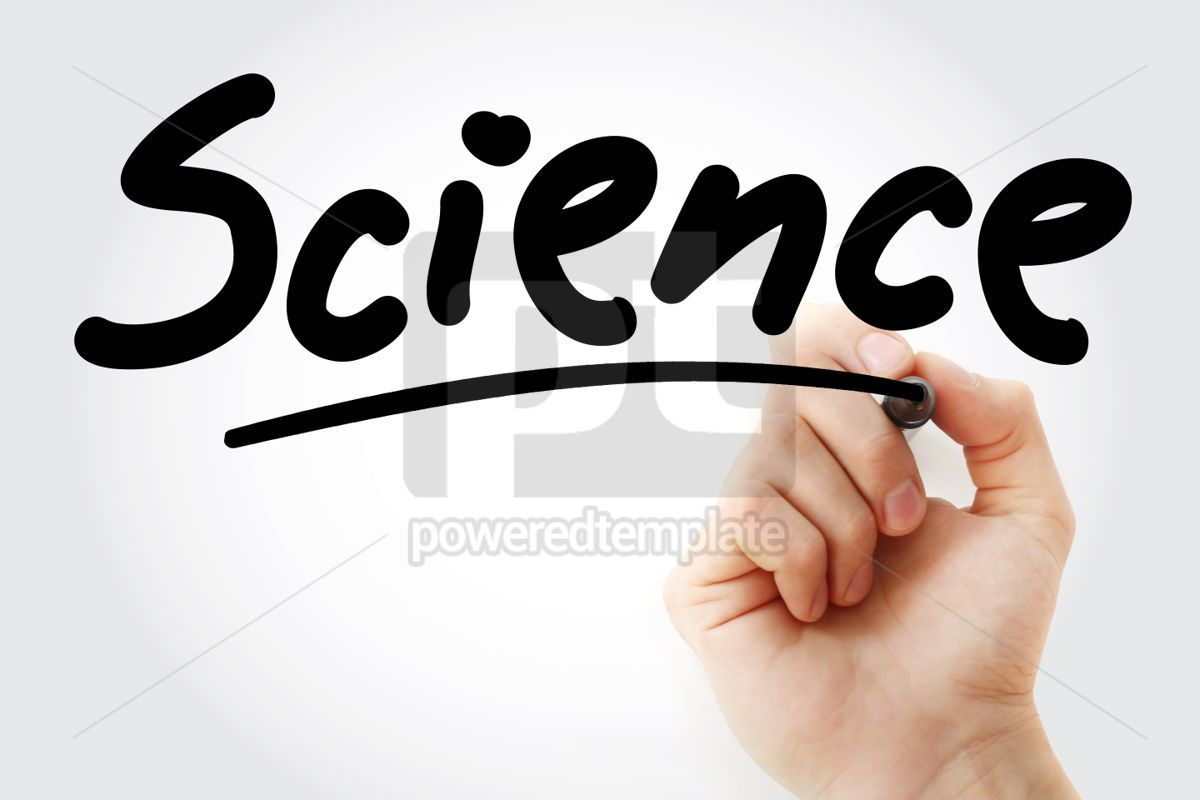 Hand writing SCIENCE with marker, 01669, Business — PoweredTemplate.com