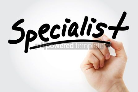 Business: Hand writing SPECIALIST with marker #01671