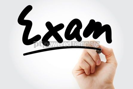 Business: Hand writing Exam text with marker #01674