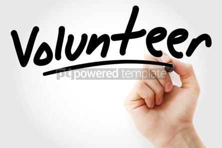 Business: Hand writing Volunteer with marker #01679