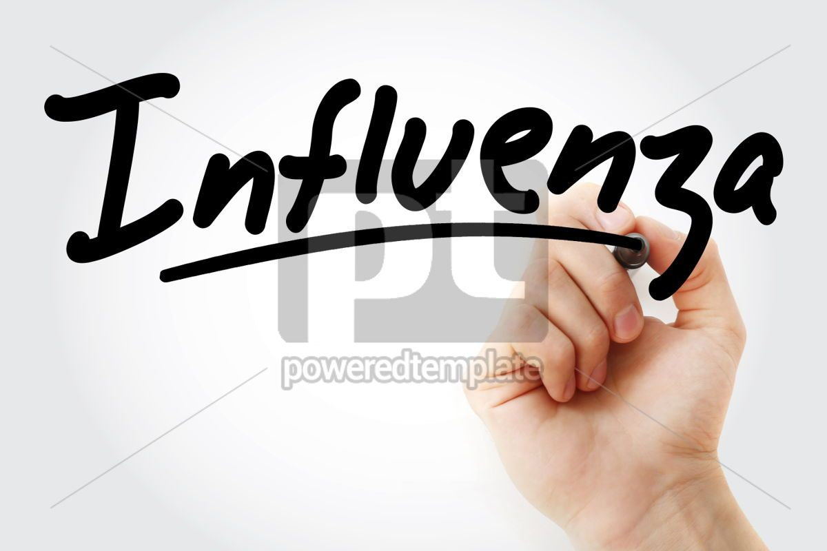 Hand writing Influenza with marker, 01680, Business — PoweredTemplate.com