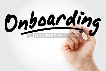 Business: Hand writing Onboarding with marker #01684