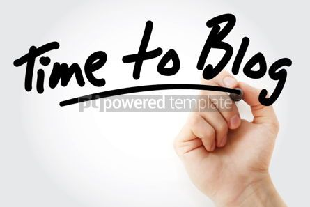 Business: Hand writing Time to Blog text with marker #01692