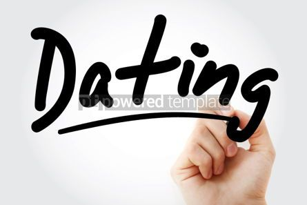 Business: Hand writing Dating text with marker #01697