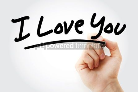 Business: Hand writing I Love You with marker #01698