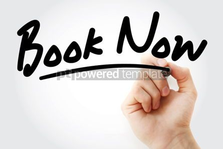 Business: Hand writing Book Now with marker #01699