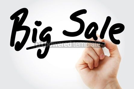 Business: Hand writing BIG SALE with marker #01704