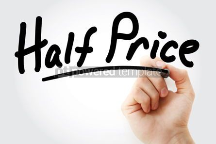 Business: Hand writing HALF PRICE with marker #01705