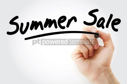 Business: Hand writing SUMMER SALE with marker #01706