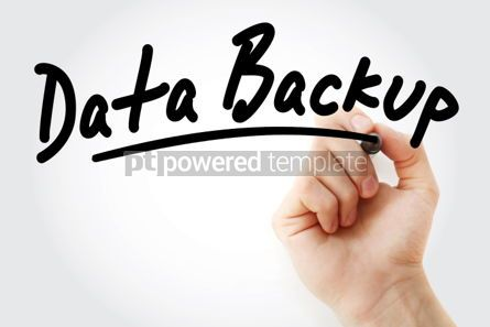 Business: Hand writing Data Backup with marker #01707
