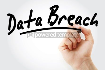 Business: Hand writing Data Breach with marker #01708