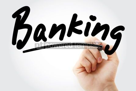 Business: Hand writing Banking with marker #01710