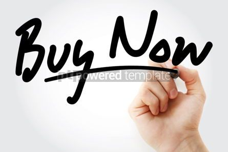 Business: Hand writing BUY NOW with marker #01714