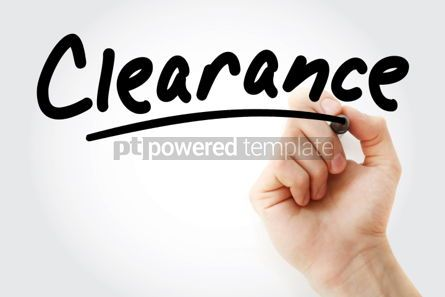 Business: Hand writing Clearance with marker #01715