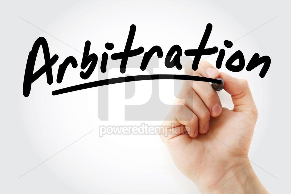 Hand writing Arbitration with marker, 01717, Business — PoweredTemplate.com