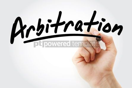 Business: Hand writing Arbitration with marker #01717