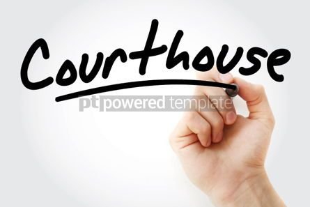 Business: Hand writing Courthouse with marker #01719