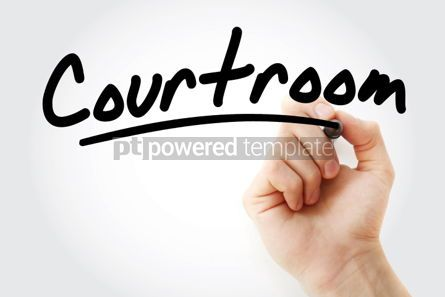 Business: Hand writing Courtroom with marker #01720