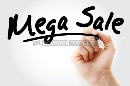 Business: Hand writing MEGA SALE with marker #01721