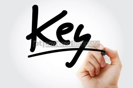 Business: Hand writing KEY with marker #01723