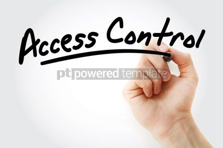 Business: Hand writing Access control with marker #01724