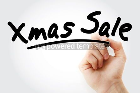 Business: Hand writing XMAS SALE with marker #01727