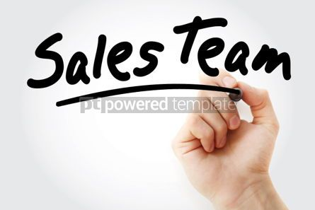 Business: Hand writing Sales Team with marker #01734