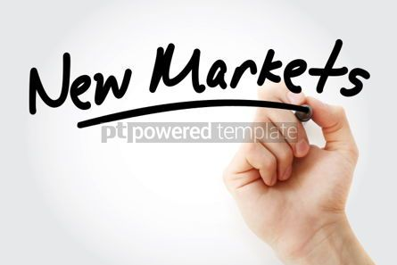 Business: Hand writing New Markets with marker #01737