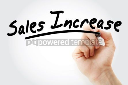 Business: Hand writing Sales Increase with marker #01739