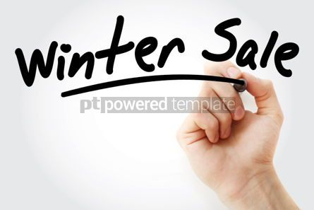 Business: Hand writing WINTER SALE with marker #01740