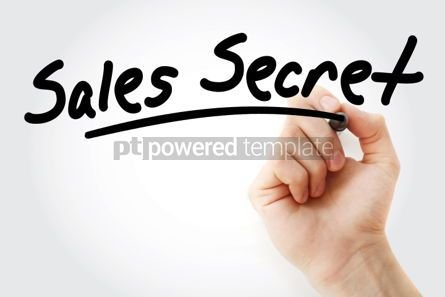 Business: Hand writing Sales Secret with marker #01742