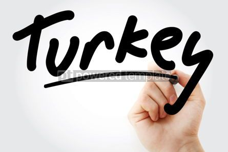 Business: Hand writing Turkey with marker #01743
