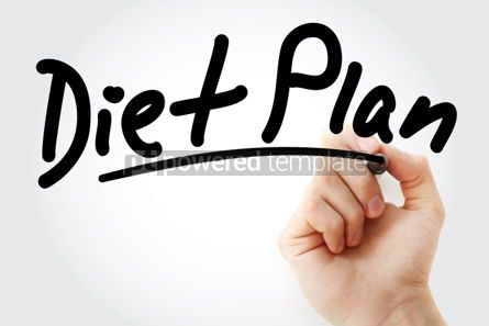 Business: Hand writing Diet Plan with marker #01744